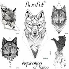Us 046 5 Offdiy Black Temporary Male Tattoo Geometry Tribal Wolf Iceberg Forest Tatoos Body Art Arm Leg Fake Water Transfer Tattoo Stickers In