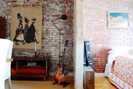 Painting Brick Walls Bedroom Industrial With Brick Wall Exposed Brick.  Image By: Corynne Pless