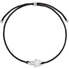 <b>Wanna?Be! Чёрный браслет</b>-<b>нить</b> «Хамса» с серебряной ...