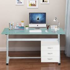 office working table. Fine Table Image Is Loading ContemporaryGlassTopWritingDeskSteelFramefor To Office Working Table O