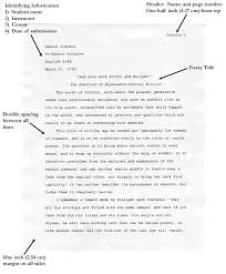 Mla Essay Formatting Essays Examples Format For Essays And Research