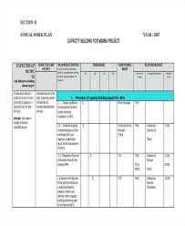 Sample Work Plan Project Template Annual Word Definition Computer ...