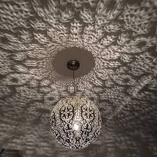 Bekend Marokkaanse Hanglamp Zilver Tzh52 Agneswamu