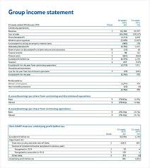 Example Of Balance Sheet And Income Statement A Company Template ...