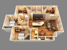 house design plans 3d 4 bedrooms modern home decor
