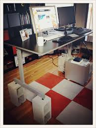 diy standing desk cinder block. Unique Desk Day  And Diy Standing Desk Cinder Block I