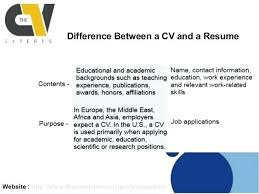 Difference Between A Resume And A Cv Foodcityme Cool Cv Versus Resume