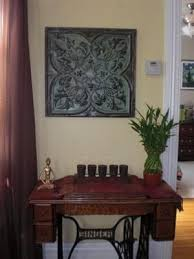 recycled tin ceiling tile wall art