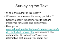 justice childhood love lessons ppt video online surveying the text who is the author of this essay
