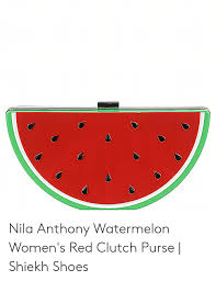 Nila Anthony Watermelon Womens Red Clutch Purse Shiekh
