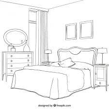 premium vector sketchy bedroom