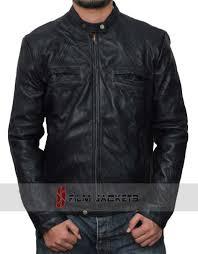 brass wrinkled leather jacket