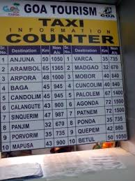 Goa Taxi Fare Chart India Travel Forum Goa Taxi Prices From Goa Airport And
