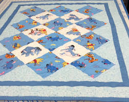 Hand made Winnie the Pooh quilt & Embrodered Crib Size Winnie the Pooh Quilt Adamdwight.com
