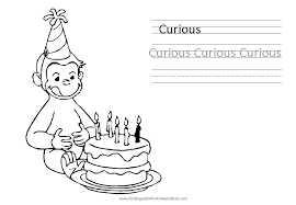 Free Curious George Coloring Pages Printable Color The Picture Of