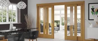 oak sliding doors glazed doors as sliding door room dividers
