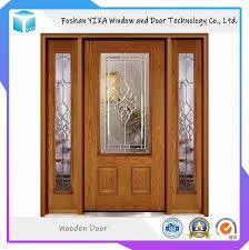 Solid Wood Front Door Designs Hot Item Top Quality Solid Wood Front Door With Glass Design