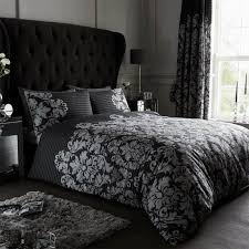 empire damask duvet cover black