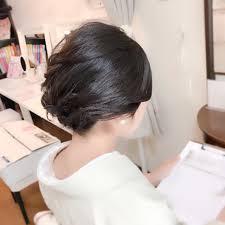 ミディアム エレガント 和装 上品福岡天神ヘアセット着付け専門店