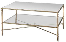 ... Coffee Table, Stunning Rectangle Modern Metal Gold Glass Coffee Table  With Shelf Designs To Fill ...