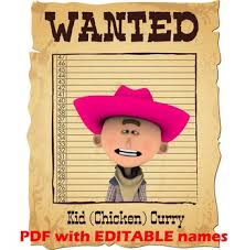 15 Western Theme Wanted Posters Editable Pdf Cowboys And Cowgirls