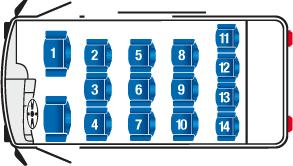 Coach Bus Seating Chart 15 Passenger Mercedes Sprinter Bus Charter Bus Charter