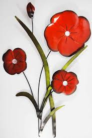 awesome abdorment metal red poppy flower trio green leaf branch white sheath contemporary adorable beautiful design on red poppy metal wall art with wall art adorable red poppy wall art galleries poppy canvas wall