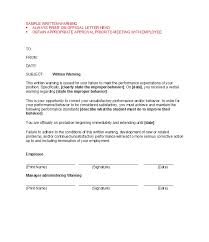 Hr Warning Letter 49 Professional Warning Letters Free Templates Template Lab