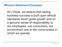 mission statement examples business module 2 the business vision mission ppt video online download