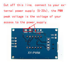 2 way pwm pulse frequency duty cycle adjule modules square wave rectangular wave signal generator