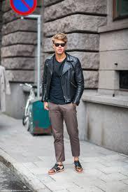 men s leather jackets street style 2