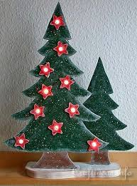 Christmas Wood Craft - Wooden Lighted Christmas Trees