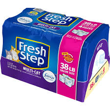 <b>Fresh Step</b> Scoopable Scented <b>Cat</b> Litter, Multi-<b>Cat</b> 38lb. Litter ...