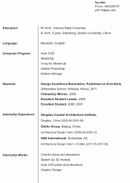 Architecture Resume Examples Architect Resume Sample Unique Resume for Architecture Internship 61
