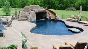 Image Hot Tub Shotcrete Gunite Concrete Swimming Pool Builder Waterfall Slide Patio Pool Deck Aquacrete Aquacrete Pool Builder Bentonville Aquacrete