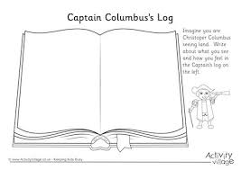christopher columbus captain s log writing prompt