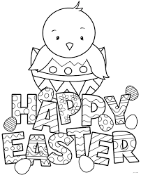 72 spiderman printable coloring pages for kids. Free Coloring Page Happy Easter With A Little Chick