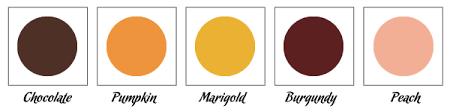 Wedding Color Chart Fall Wedding Color Chart Linentablecloth