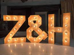 Big Letters With Lights Custom Light Up Sign Large Marquee Letters Marquee Sign