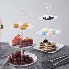 Coffee Shop Display Stands Twothree Tier Cake Cupcake Stands Wedding Birthday Party Dessert 83
