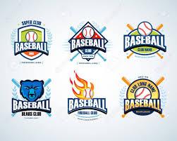 Baseball Design Templates Baseball Sport Badges Set Design Template And Some Elements