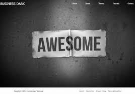 Business Portfolio Template Business Portfolio Dark Blogger Template 2015 Free