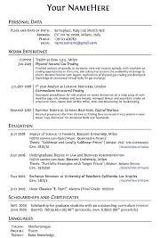 Format For Making A Resume Tomyumtumweb Com