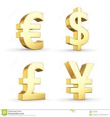 Golden Currency Symbols Stock Illustration Illustration Of Icon