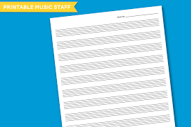 Printable Music Staff Free Printable Blank Music Staff Paper Download At Paging Supermom