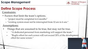 Learn The Definitions Of Project Assumptions And Constraints