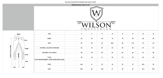 Breeches Size Chart 2018 Tallow Breeches White