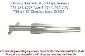 Taper Reamer Size Chart 7 15 5 71 9 56 Degree Taper 1 1 2 Ft 10 1 2 Ft 7 16 To