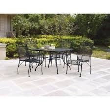 deck wrought iron table. Wrought Iron 5 Piece Patio Dining Set Discount Deck Furniture Outdoor Table  Seat Deck Wrought Iron Table R