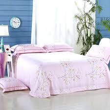 cherry blossom bedroom set linen blue pink bedding duvet cover bed sheet pillowcases duv